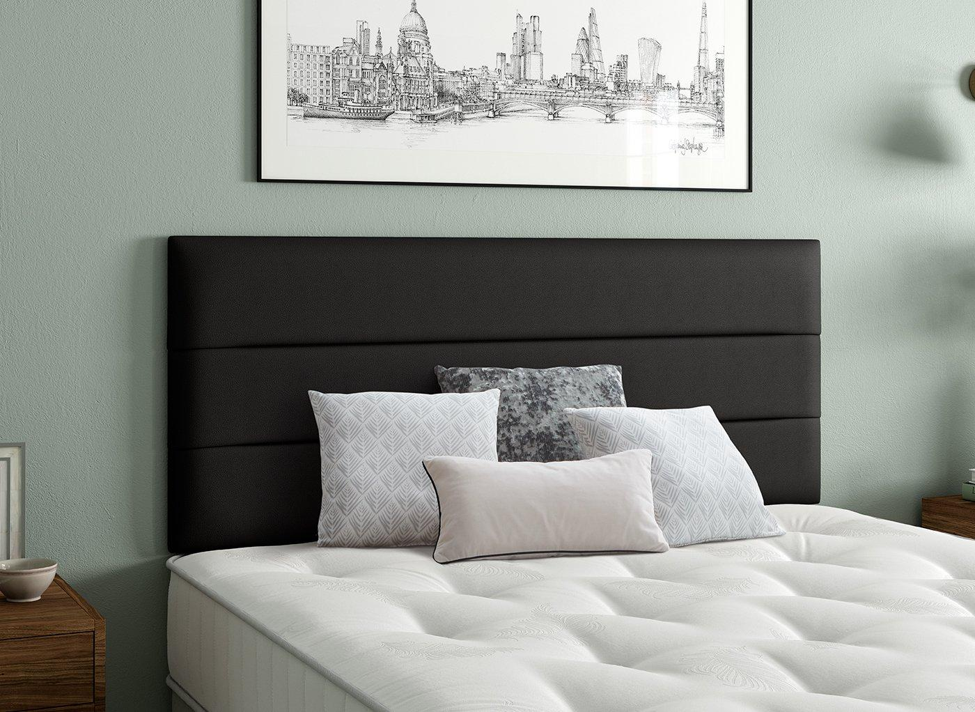 Stamford Headboard 2'6 Small single BLACK