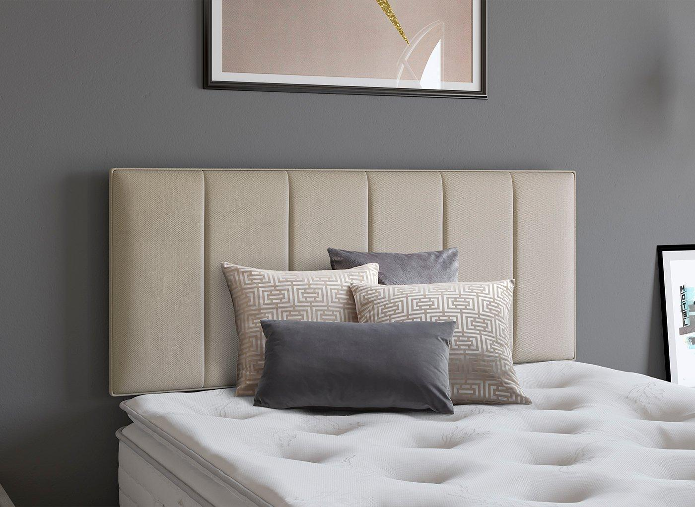Columbia Headboard 4'6 Double BEIGE