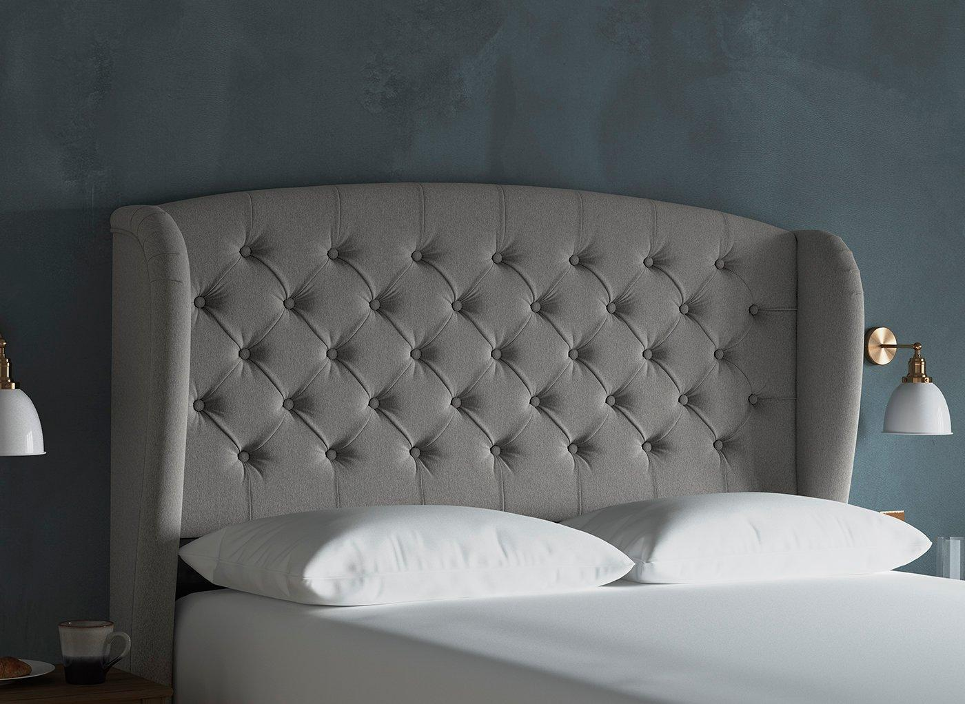 Canberra Winged Headboard 4'6 Double ASH