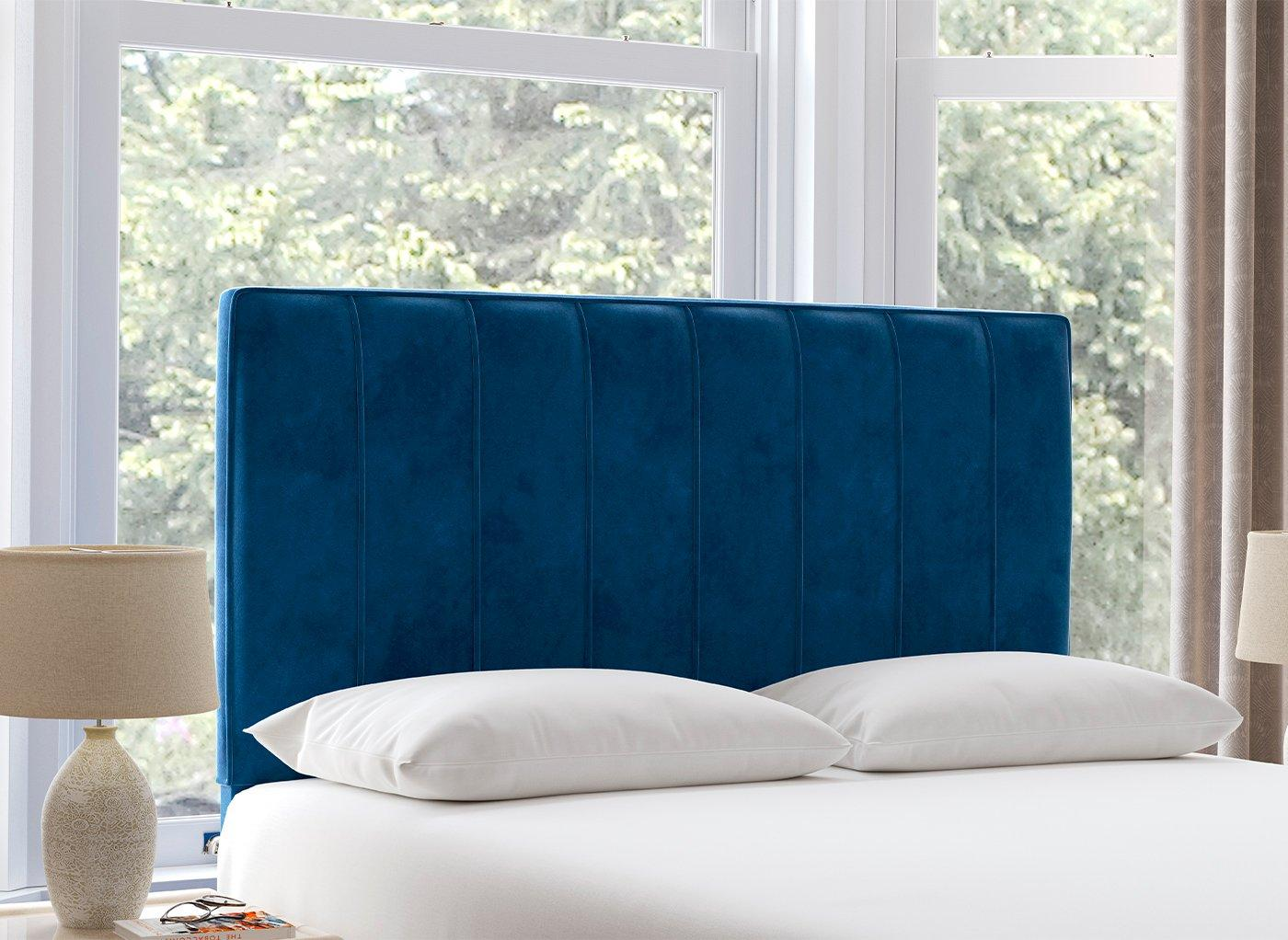 Nocturne 4'0 Full Height H/B Plush Navy 4'0 Small double BLUE