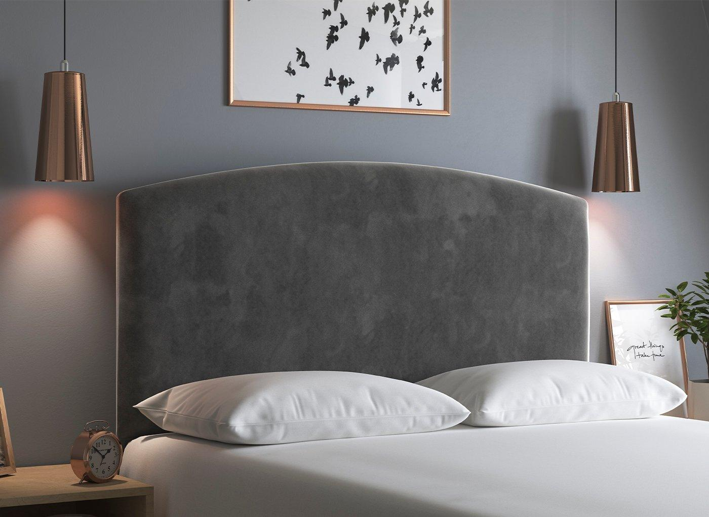 Verona 4'0 Full Height H/B Plush Pewter 4'0 Small double GREY