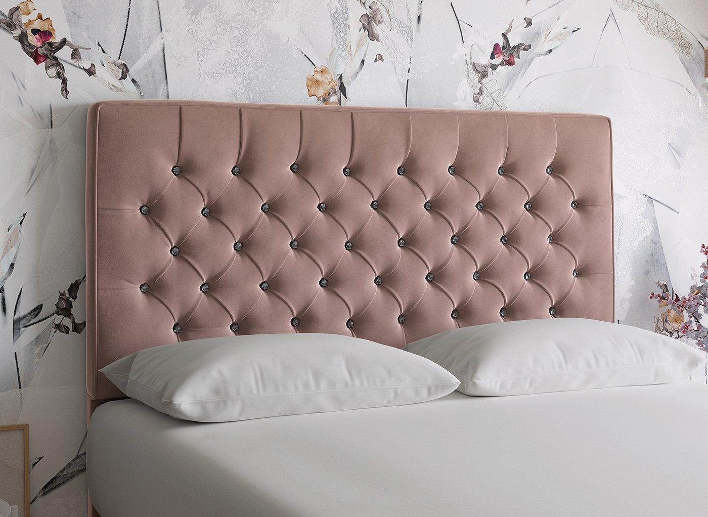 Florentine D Full Height H/B Plush Pink 4'6 Double