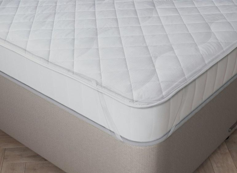 Flaxby Quilted Pure Cotton Mattress Protector 6'0 Super king