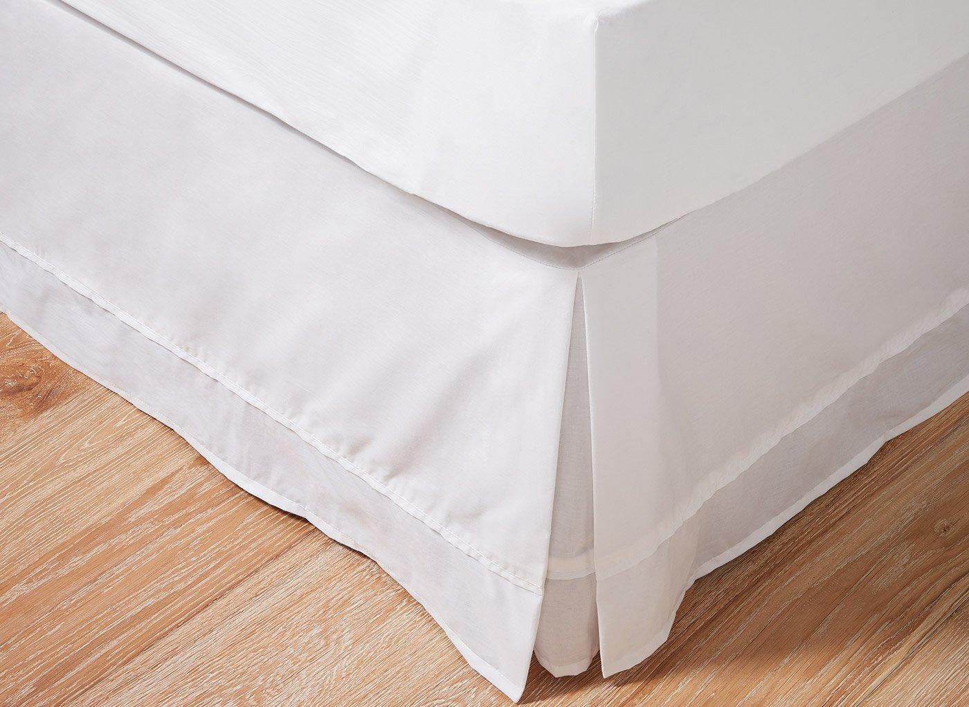 Flaxby 400 Thread Count Pleated Valance 3'0 Single WHITE