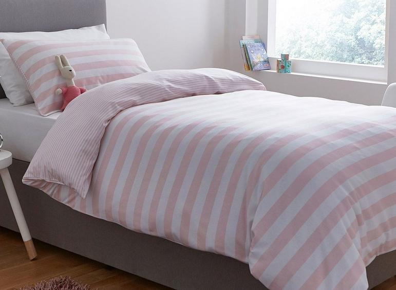 Silentnight Pink Stripe Duvet Set