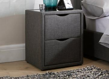 Lucia / Wilson Grey 2 Drawer Bedside Chest