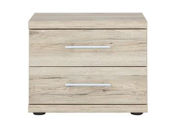 Samara 2 Drawer Bedside Chest - Oak