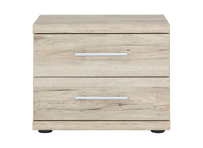 Samara 2 Drawer Bedside Chest - Oak BROWN