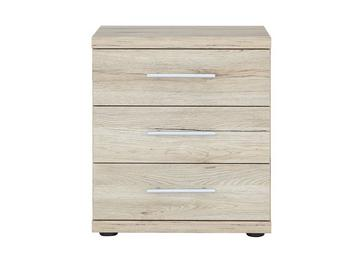 Samara 3 Drawer Bedside Chest - Oak