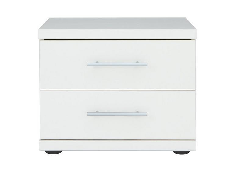 Samara 2 Drawer Bedside Chest - White