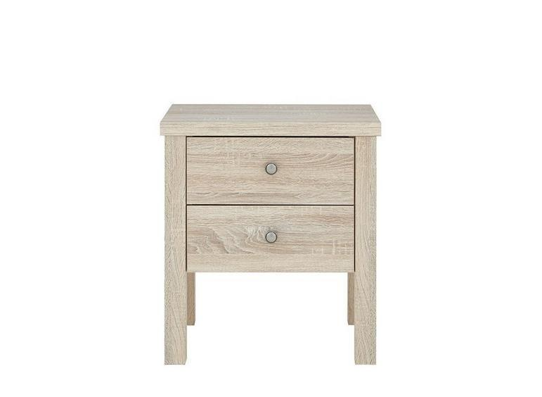Sloane Bedside Chest - Rustic Oak BROWN