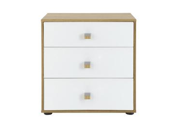 Minsk 3 Drawer Bedside Chest - Oak & White