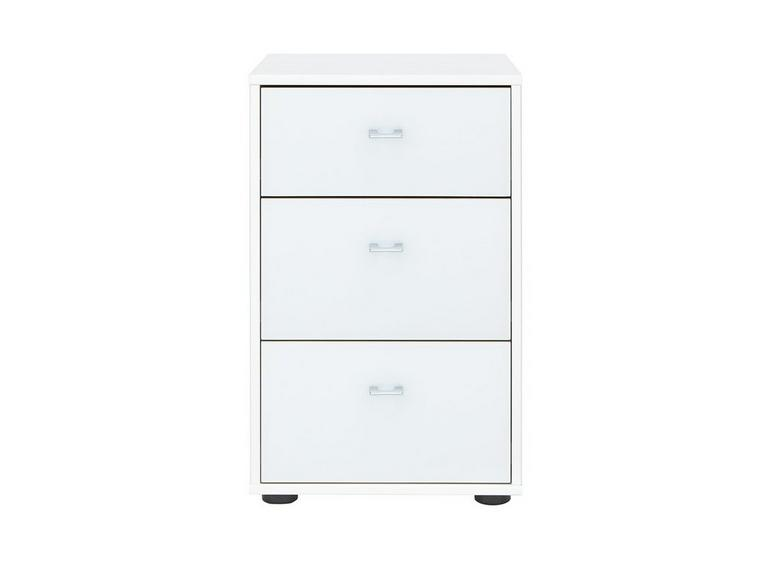 Memphis 3 Drawer Bedside Chest - White