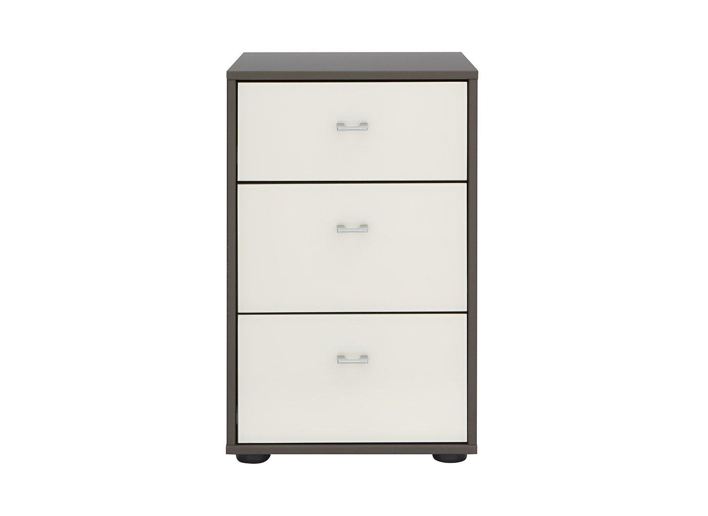 Memphis 3 Drawer Bedside Chest - Grey