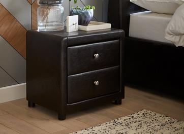 Detroit 2 Drawer Bedside Chest Brown