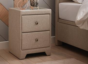 Kimberley 2 Drawer Oatmeal Bedside Chest
