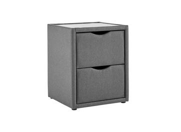 Luxury 2 Drawer Bedside Chest - Dark Grey