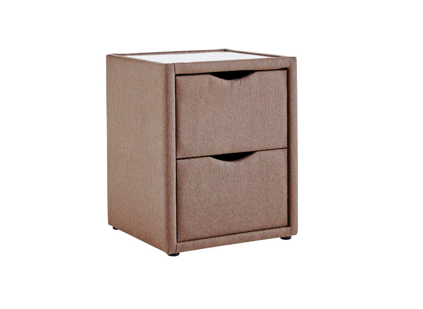 Luxury 2 Drawer Bedside Table – Mocha (£99)