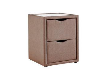 Luxury 2 Drawer Bedside Chest - Mocha