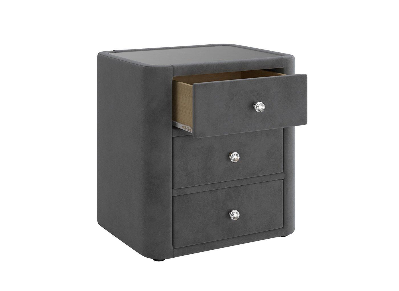 ellis-3-drawer-velvet-finish-bedside-table