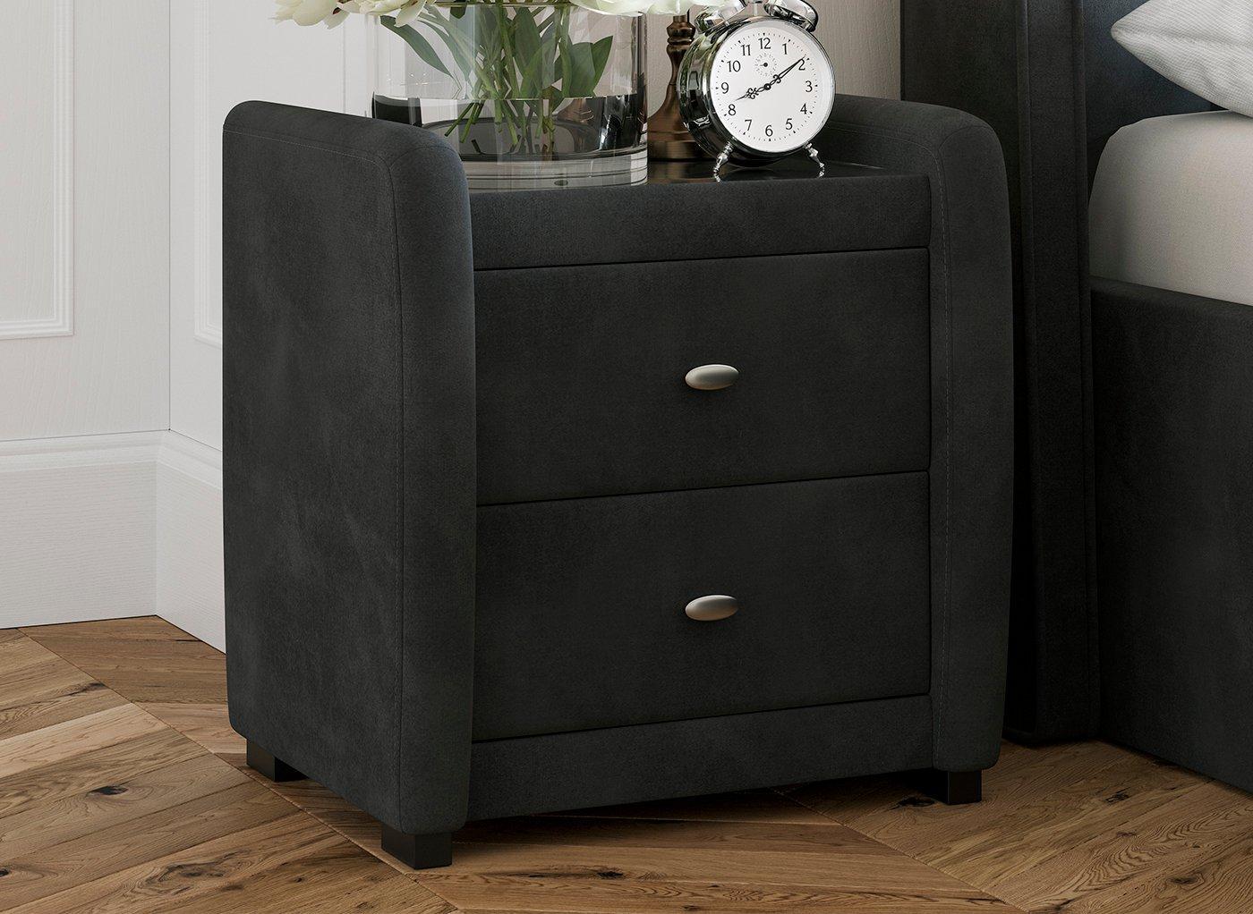 deacon-velvet-upholstered-2-drawer-bedside-chest-grey
