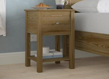 Fulham Bedside Chest Oak