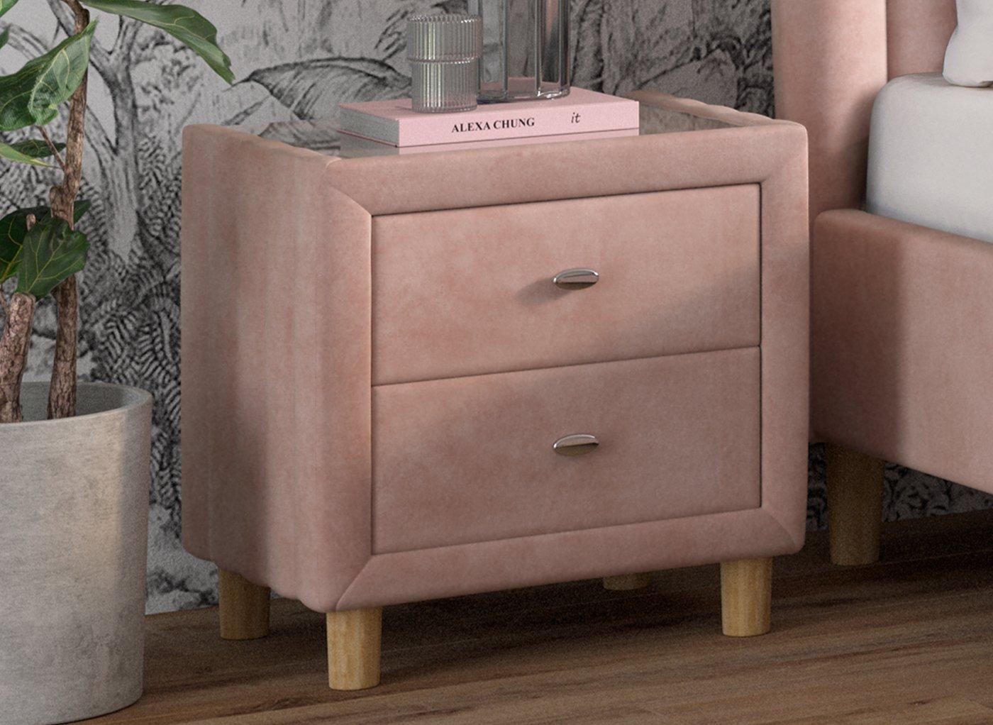 Knox Velvet Bedside Chest (£149)