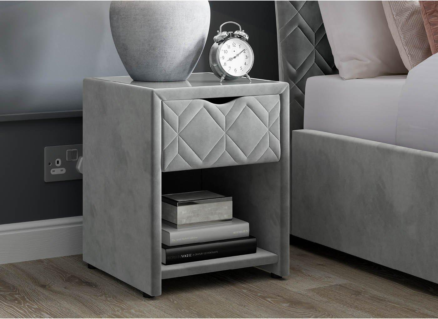 Neva 1 Drawer USB Charging Bedside Table (£199)