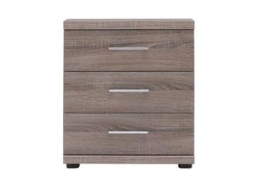 Melbourne 3 Drawer Bedside Chest - Oak