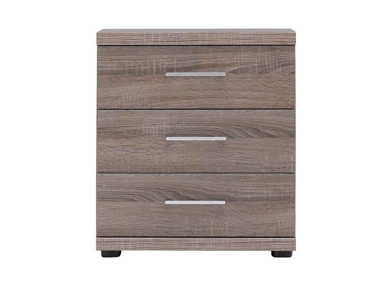 Melbourne 3 Drawer Bedside Chest - Oak GREY