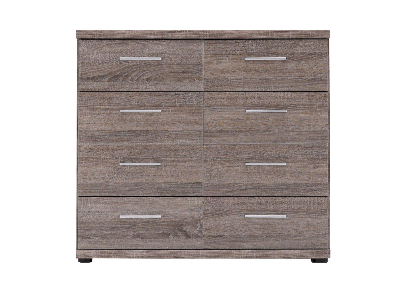 Melbourne 8 Drawer Chest - Oak GREY