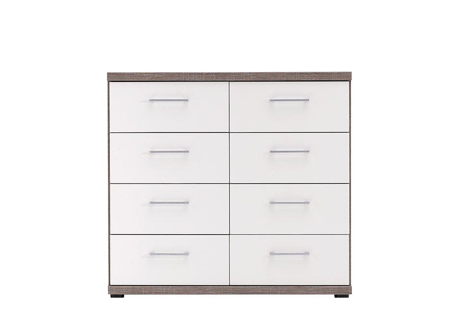 Melbourne 8 Drawer Chest - Oak & White