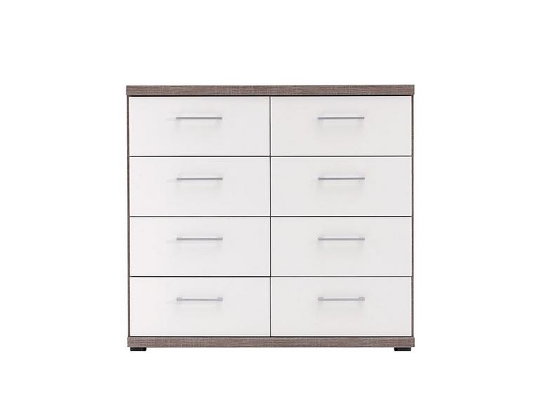 Melbourne 8 Drawer Chest - Oak & White