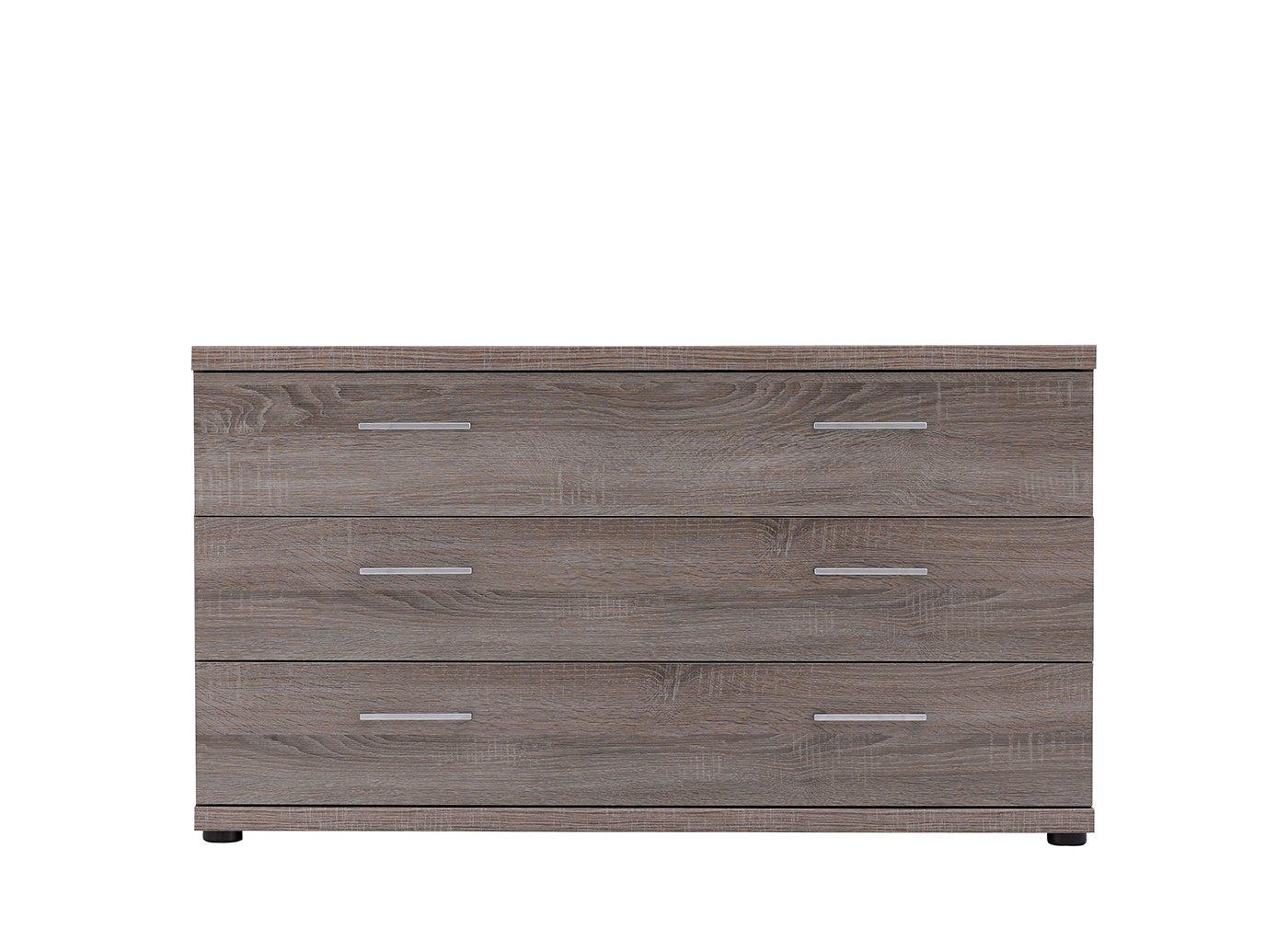 Melbourne 3 Drawer Wide Chest - Oak GREY