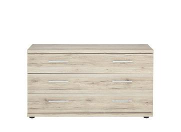 Samara 3 Drawer Wide Chest - Oak