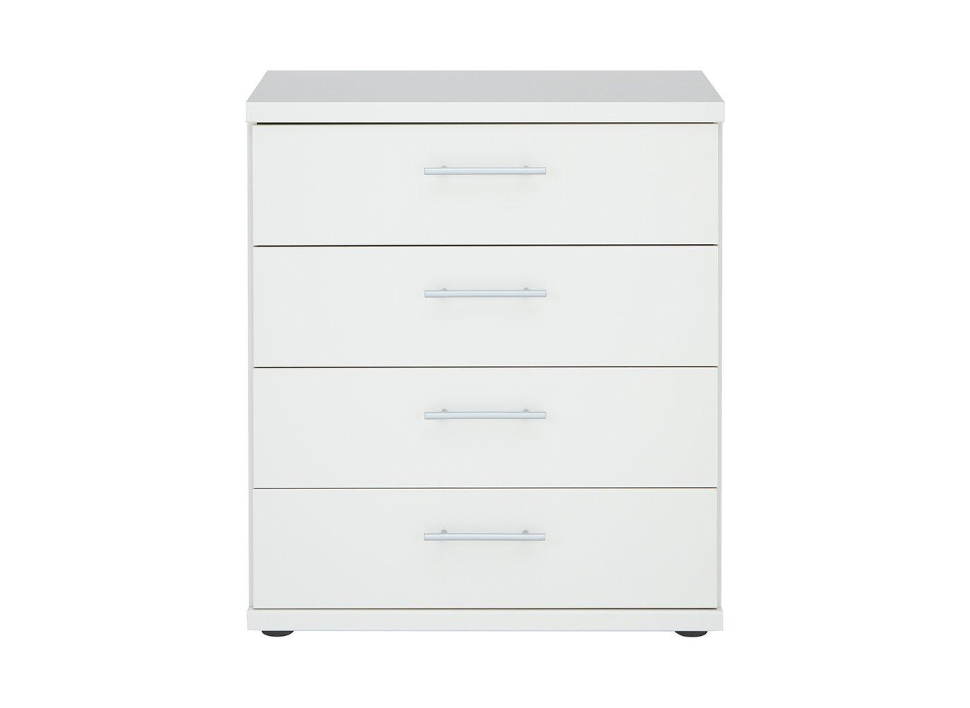 Samara 4 Drawer Chest - White