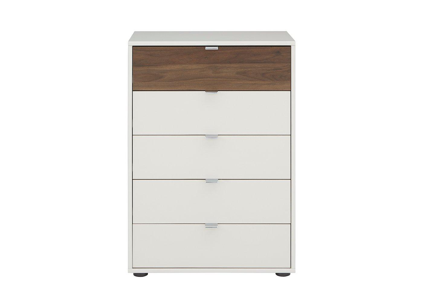 Cali 5 Drawer Chest Champagne & Wood (£399)