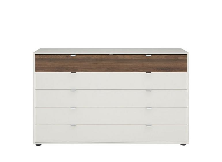 Cali 5 Drawer Wide Chest Champagne & Wood CREAM