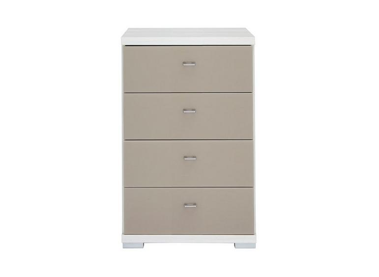 Fiji 4 Drawer Narrow Chest Polar & Sahara BROWN
