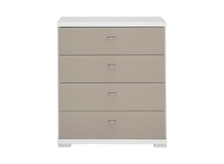 Fiji 4 Drawer Chest Polar & Sahara BROWN