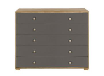 Minsk 5 Drawer Wide Chest - Oak & Grey