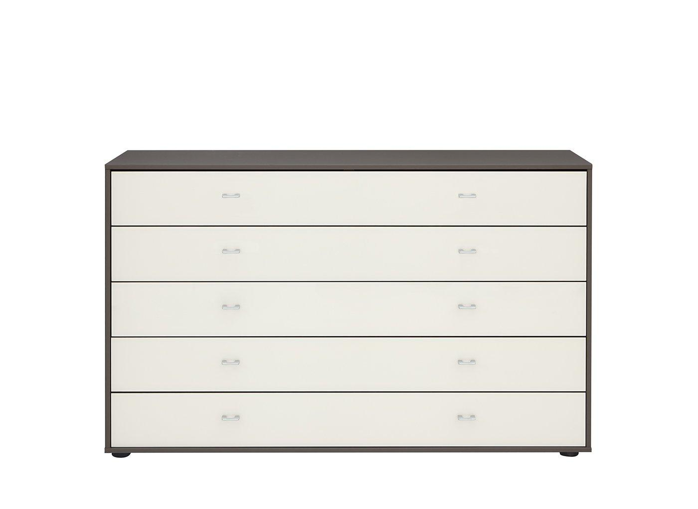Memphis 5 Drawer Wide Chest – Grey (£799)