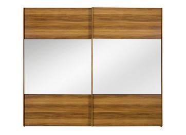 Berkeley 2 Mirror Door Sliding Wardrobe Walnut - Small