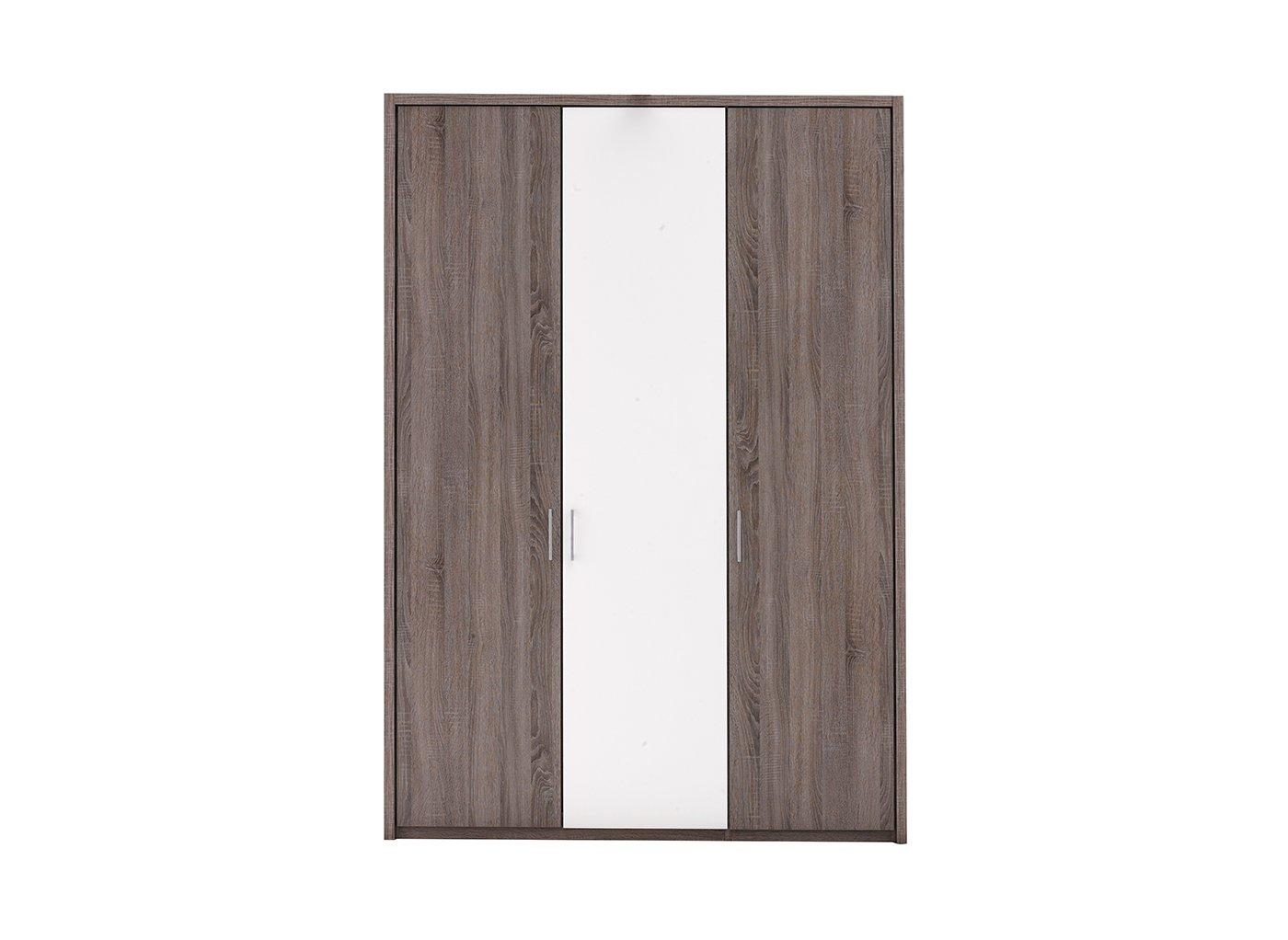 Melbourne 3 Door Hinged Wardrobe – Oak & White (£599)