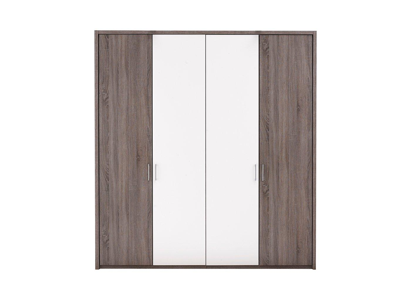 melbourne-4-door-hinged-wardrobe---oak---white