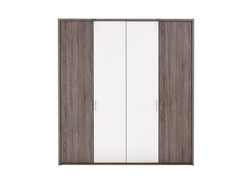 Melbourne 4 Door Hinged Wardrobe - Oak & White