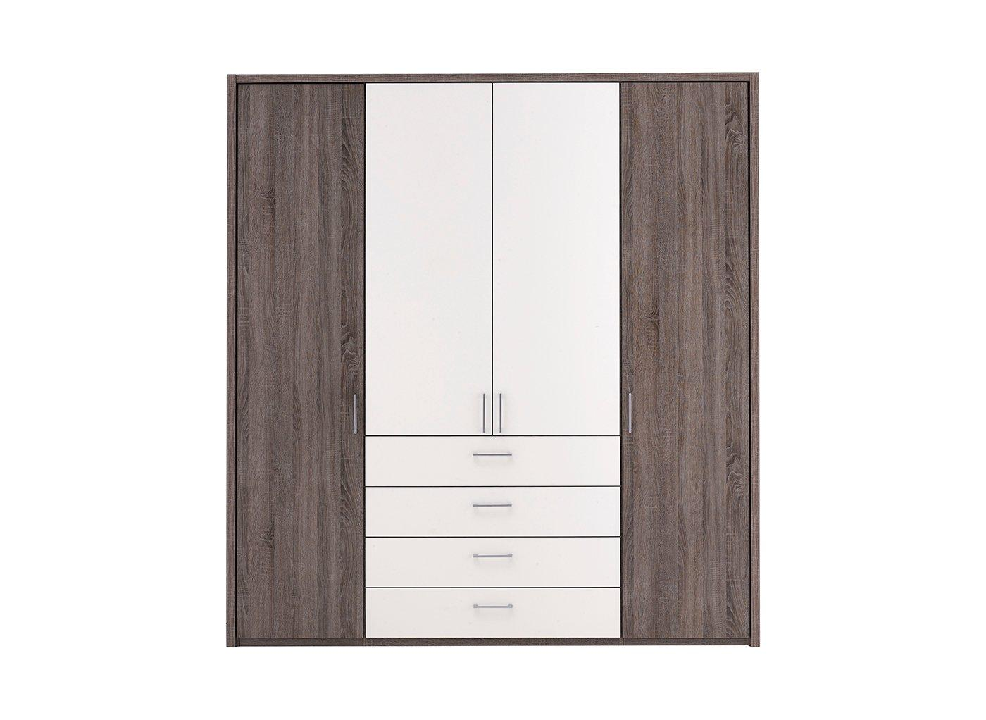 Melbourne 4 Door Wardrobe – Oak & White (£899)