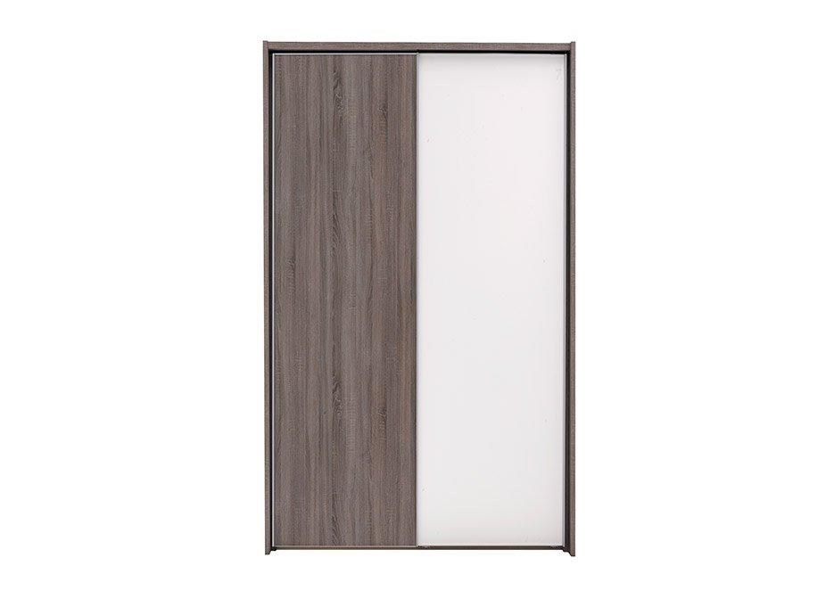 Melbourne 2 Door Sliding Wardrobe - Oak & White - Small