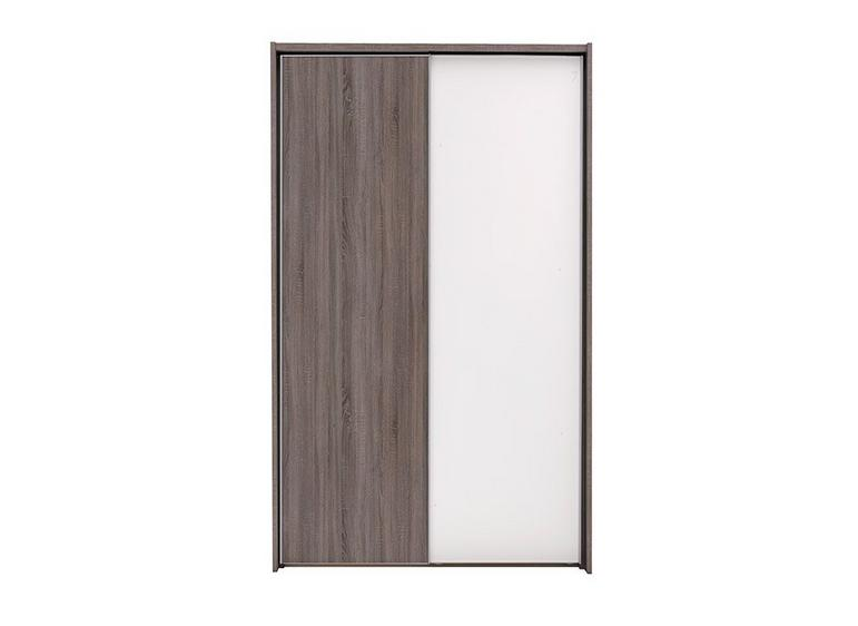 Melbourne 2 Door Sliding Wardrobe - Oak & White - Small