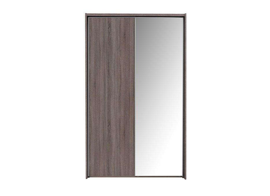 Melbourne 2 Mirror Door Sliding Wardrobe – Oak – Small (£799)